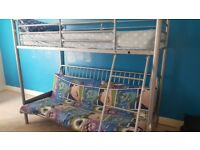 Bunk bed with double futon pull out