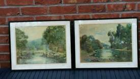 Rare water colours Welsh scenes rsa artist