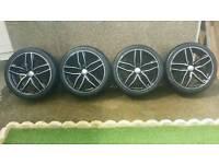 """19"""" Audi vw skoda seat alloys and tyres"""