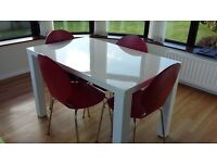 4 x Red Dining Chairs