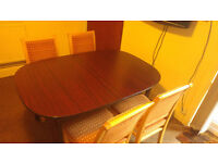 ++URGENT++ Solid Wood Dining TABLE with extension and 6 CHAIRS - Excellent Condition