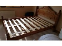 Solid wood double bedframe for sale