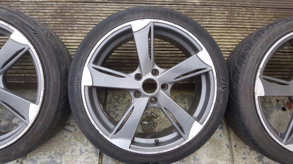 18 inch Wolfrace genesis alloy wheels 5x112