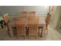 6 Seater Dining Table and Chairs/Unit with Drawers
