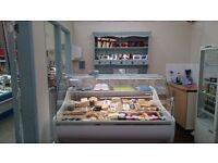 Serve over display counter chiller deli fridge