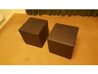 2 x Faux Leather cubes / pouffe foot rests
