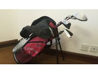 Kids RH Callaway XJ Series golf set with bag