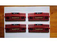 Corsair Vengeance (CMZ8GX3M4X1600C8R) 8GB (4x2GB) 1600MHz PC DDR3 RAM Memory
