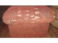 Foot stool , terracotta colour