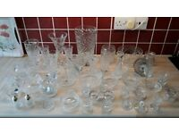 Tutbury and Georgian cut Crystal glassware for sale ( Approx 45 pieces)