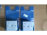 commtel 2/4a single surface lju telephone socket x 2