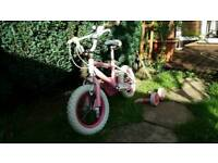 Pink bicycle for girl