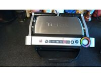 Tefal opti grill with automatic thickness touch button control with box in very good condition gwo