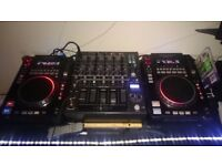 Cd/mp3/media x2 plus mixer