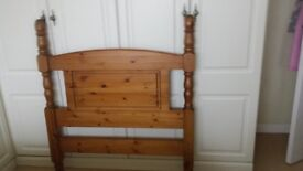 3ft solid pine free standing headboard.