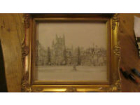 print of bath abbey from parade gardens