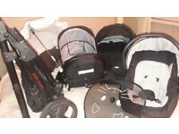 3 way pram ie car seat carry cot and buggy great condition