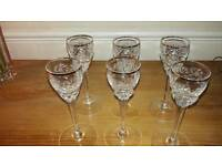 Polish crystal sherry glasses