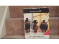 Harmony Gold Decorative Bottles Pack Of 3 BRAND NEW NEVER OPENED OR USED