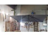 john lewis parasol grey size 3x2m