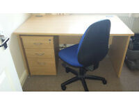 Home office desk and chair, great condition.
