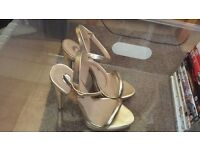 Gold strapped heels size 5