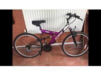 Olympus bike purple and silver