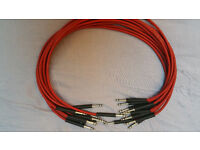 10 Bantam / TT / Patch Cords/ Patch Cables 50 cm Sommer with Neutrik Connectors