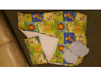 Toddler (cot) bed bedding, duvet and pillow plus cover and pillow case - boy or girl