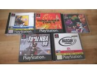 5 Sony Playstation One PS1 Games