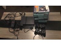 Play station 2 slim with 17 games