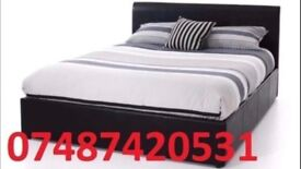 MIAMI DOUBLE LEATHER BED FRAME + FREE 9 INCH MATTRESS £99 - SALE