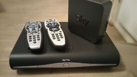 Sky HD Box, Router and 2 Remote Controllers