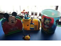 Mickey mouse laptop and playhouse