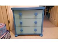 Blue ikea chest if drawers