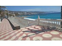 Small village house on a hill, overlooking the sea, in southern spain, sale or rent