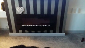 Black Gloss Wallmounted Electric Fire – New Immaculate Condition! (Quick Sale)