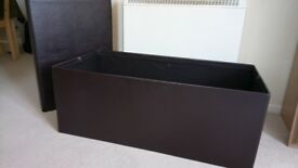 Large faux leather blanket box/storage chest