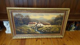 large old oil painting