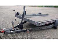 Brian James tilt car transporter trailer