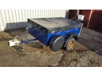Box trailer steel sides with tailgate