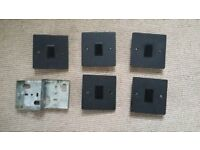 5 x black electric switches great condition