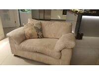 Really comfy DFS sofa suite - large 3 seater, 2 seater love seat and strorage footstall