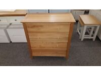 Salerno Oak 4 Drawer Chest Can Deliver