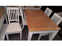 BRAND NEW BOXED Willis & Gambier Winchester Extending Oak Dining Table + 4 Chairs from John Lewis