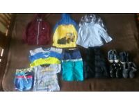 Bundle of boys clothes age 2-3 including 5 pairs of shoes