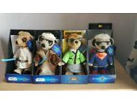 4 x meerkat toy collectibles including 3 limited editions