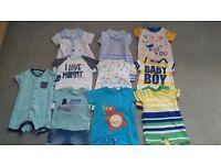 boys 3-6 month romper suits