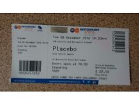 1x Placebo Standing Ticket Motorpoint Arena Nottingham 6th December
