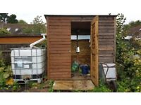 Garden or allotment shed